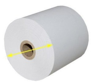 Measure the paper diameter or length when buying thermal paper