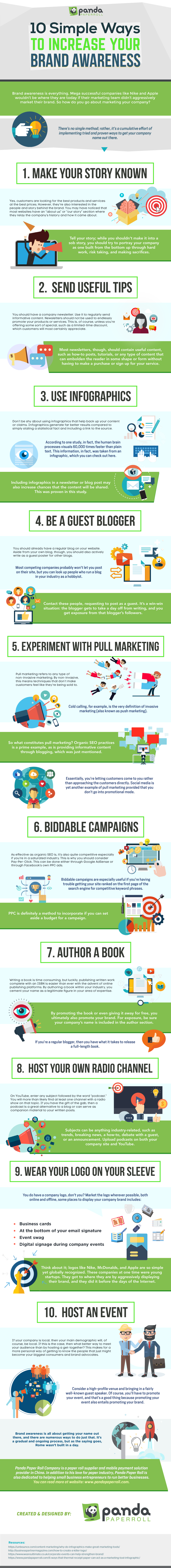 10 Simple Ways to Increase Your Brand Awareness (Infographic)