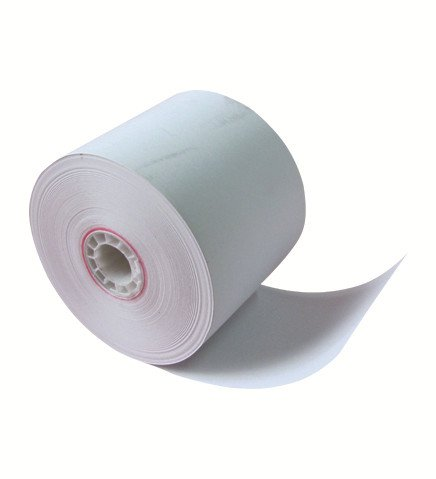 2 1/4'' x 185' Thermal Paper Roll White Flute Core