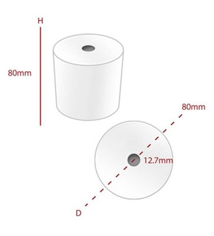 80mm x 80mm Thermal Paper Roll