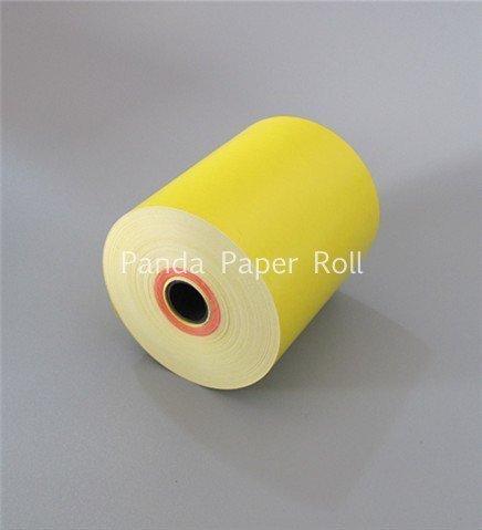80mm x 70mm Yellow thermal rolls