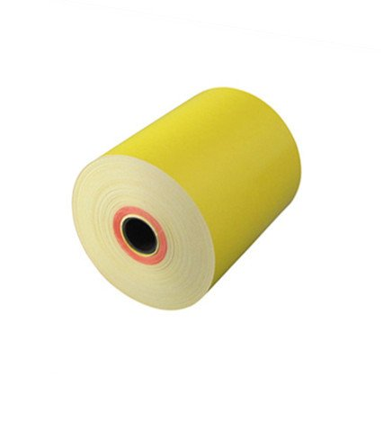 Yellow thermal paper roll